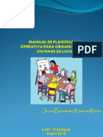 Manual de Planificacion Operativa Para Organizaciones Sin Fines de Lucro