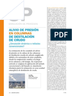 Alivio de Presión en Columnas de Destilacion