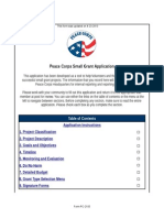 Peace Corps Small Grants Application Form