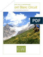 France Italy Switzerland the Mont Blanc Circuit Itinerary 2015_1