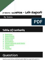 plant science - lab report