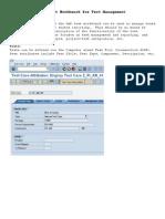 Sap Test Workbench for Test Management