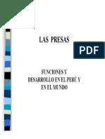 Presas Funciones y Desarrollo en El Peru