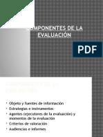 u5 componentes de la evaluacin