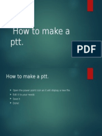 How to make a ppt