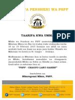 Taarifa Kwa Umma