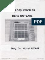 Mikroişlemciler - Doç.dr. Murat UZAM Defter Notu