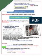 Vocabulaire 02 Projet 01 Séquence 01 3AM 2012-2013