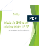 Indicators for SE4all related activities within the 11th EDF (2014)