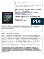 Critical Development Studies and the Praxis of Planning