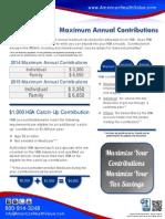 2014-2015 Maximum HSA Contributions