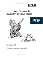 Beginner's Guide to Humidity Measurement (Draft for Comment)