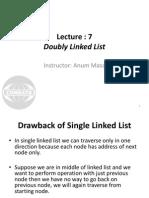 Lec 7 Double Linked List
