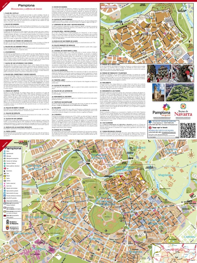 Mapa Pabellones Hospital De Navarra.Plano De Pamplona Arquitectura Gotica Hogares Y Jardines