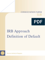 Consultation Paper IRB Approach