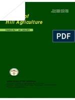 Journal of Hill Agriculture 2014 Vol 5(1)