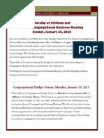Newsletter - January 2015