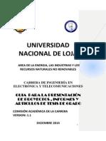 Guía proyectos, informes y artículos de tesis de grado.