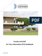 Faculty and Staff For Your Information Guidebook