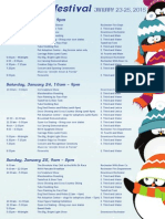 2015 Fire and Ice Event Schedule