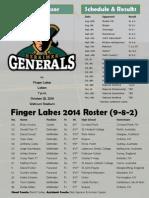 10-27-14 Men's Soccer Gameday Sheet
