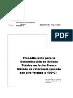 Procedimiento Para Analisis de s.t. Metodo de Referencia