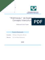 Weltliteratur de Goethe Un Concepto Intercultural 0