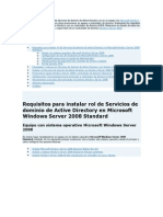 Explicamos Cómo Instalar El Rol de Servicios de Dominio de Active Directory en en Un Equipo Con