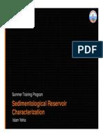 Sedimentological Reservoir Characterization