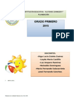 Planeacion del grado_1°_ 2015