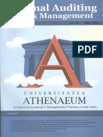 """Revista """"Auditul intern şi managementul riscurilor"""", nr. 7-8, Krüger-Brent Printing House Ltd., Bucureşti, 2007"""