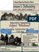 september 2014 monthly topic- wholeness