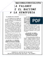 La Falange ante el racismo y la xenofobia. José María Permuy Rey. Enero-febrero 1993.