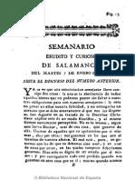 29Semanario Erudito y Curioso de Salamanca. 7-1-1794, n.º 29