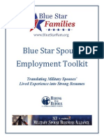 Blue Star Spouse Employment Toolkit_Feb2014