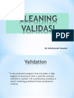 Cleaning Validation-For FFUA 2013