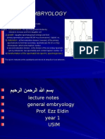 Embryology Year 1