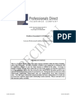 Specimen Policy Lawyers Professional Liability Insurance - Chubb