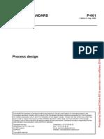 Norsok Standard P001 Process Design Edition 5 Sep 2006