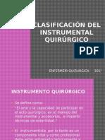 """Clasificaciã""""n Del Instrumental Quirurgico"""