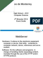 Computer Science Highschool III-IV - Liceo de Monterrey Exam Guide - 2nd Semester 2 of 2