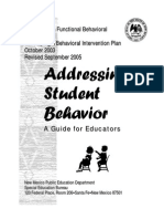 Addressing Student Behavior