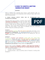 Tips on How to Write a Better Narrative Essay