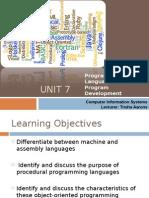 Programming Languages and Program Development