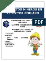 Proyectos Mineros en El Sector Peruano