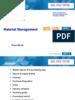 UNI-Slides Part 4 - Material Management