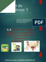 3.5 Noción de Variable Didactica y Su Papel en La Selección y Diseño de Situaciones Problemáticas.