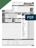 Pathfinder Eidolon Character Sheet