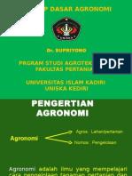 1. Konsep Dasar Agronomi