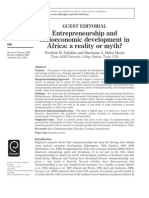 Entrepreneurship and Socioeconomic Development in Africa